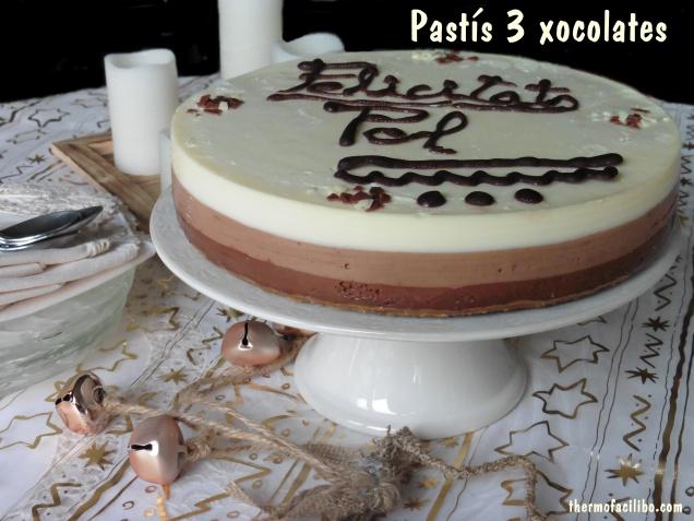 pastís 3 xocolates