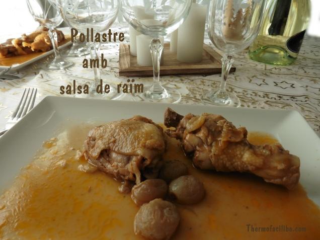 pollastre amb salsa de raïm