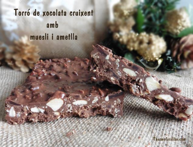 Torró de xocolata cruixent