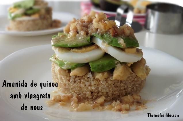 Amanida de quinoa amb vinagreta de nous