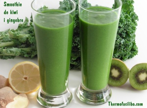 smoothie de kiwi i gingebre.