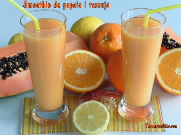 Smoothie de papaia i taronja (2)