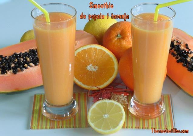 Smoothie de papaia i taronja