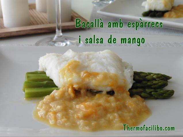 Bacallà amb espàrrecs i salsa de mango (2)
