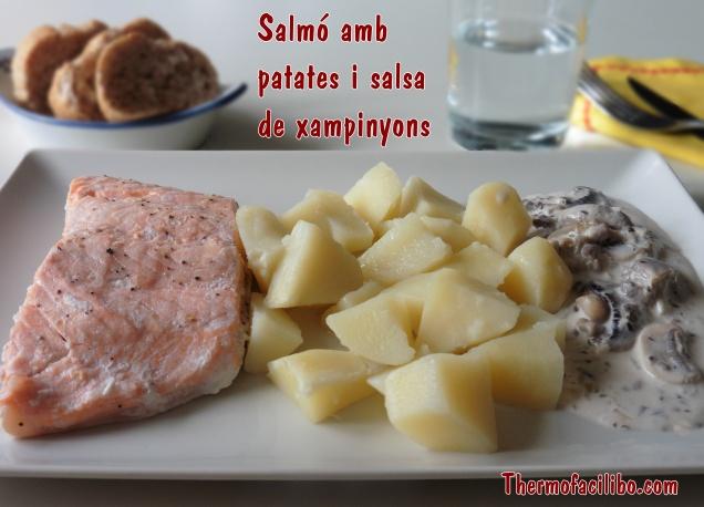 Salmó amb patates i salsa de xampinyons 1