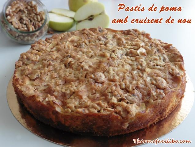 Pastís de poma amb cruixent de nou (2)