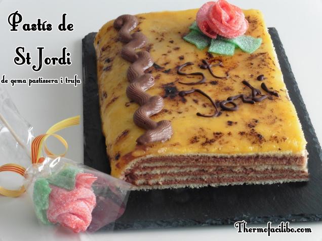 Pastís de St. Jordi de gema pastissera i trufa.3