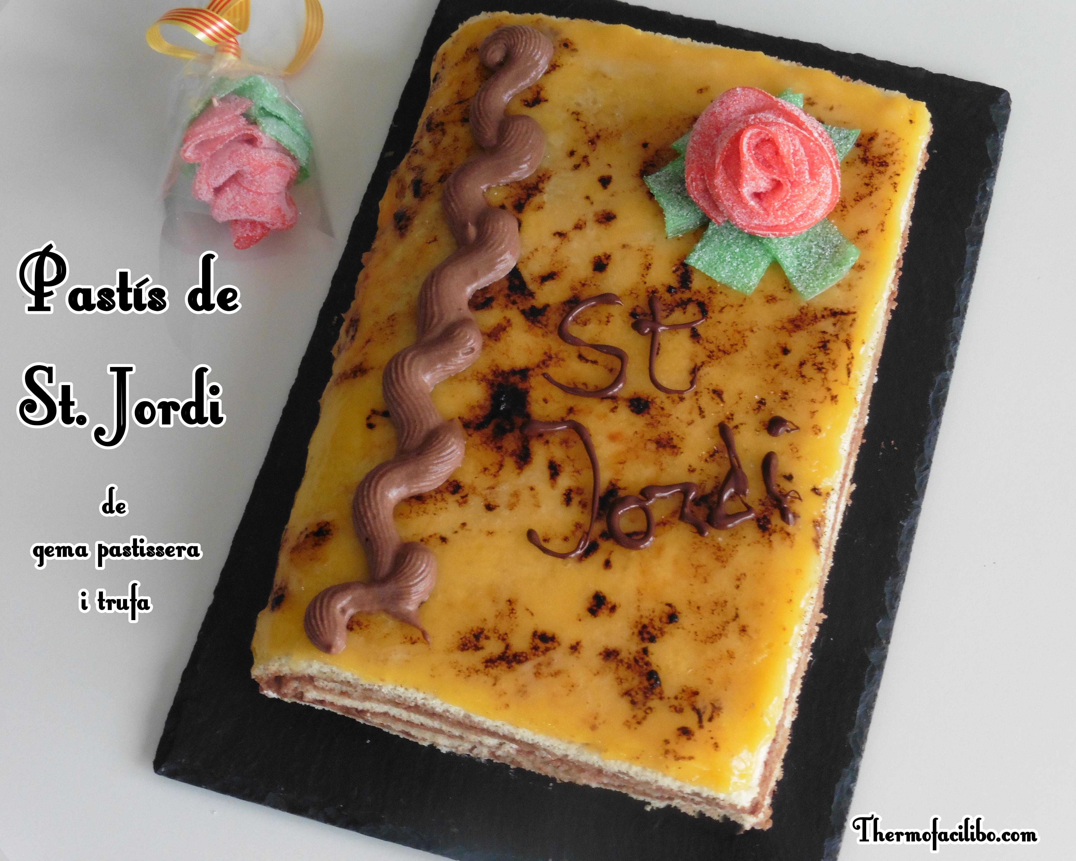 Pastís de St. Jordi de gema pastissera i trufa