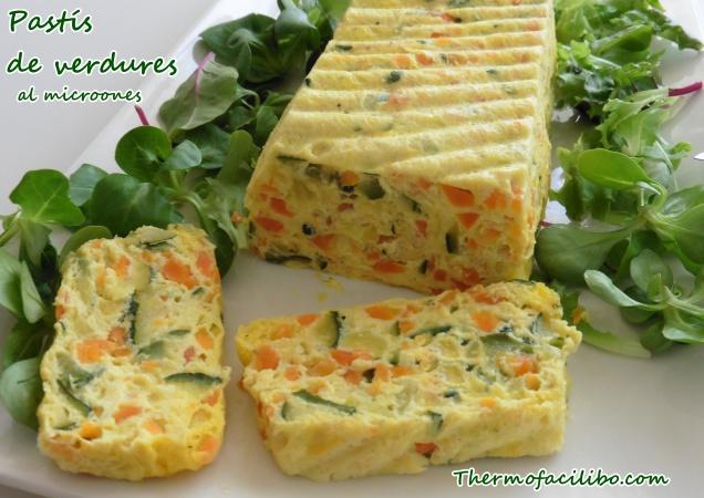 Pastís de verdures al microones.1
