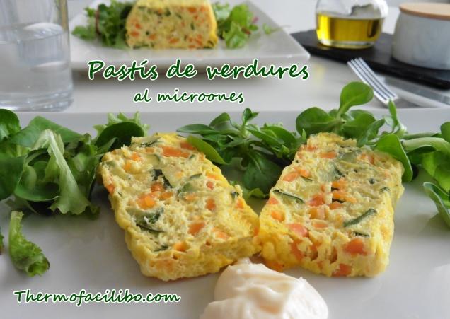 Pastís de verdures al microones.2
