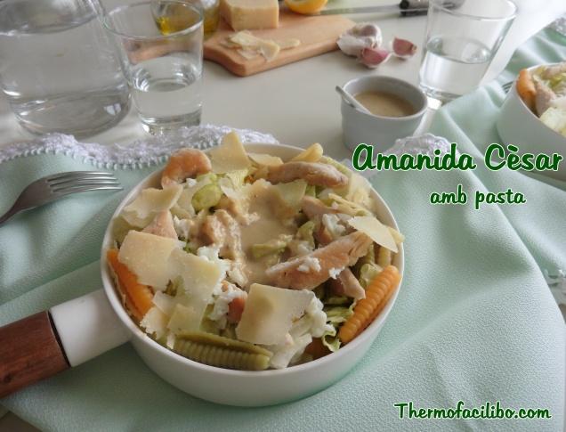 Amanida Cèsar amb pasta.2