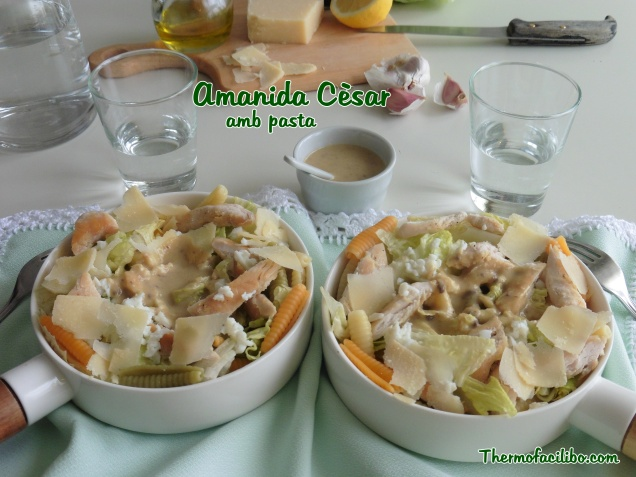 Amanida Cèsar amb pasta.3