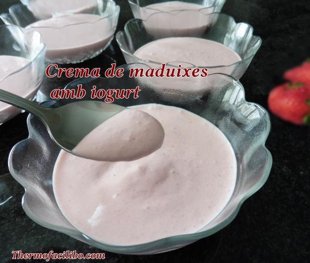 Crema de maduixes amb iogurt