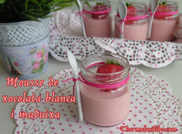 Mousse de xocolata blanca i maduixa (2)