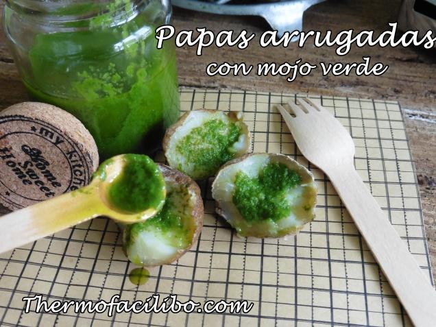 Papas arrugadas con mojo verde