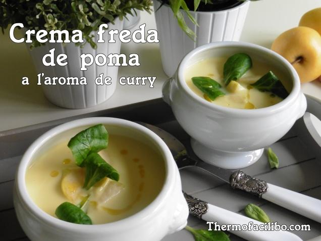 Crema freda de poma al curry..