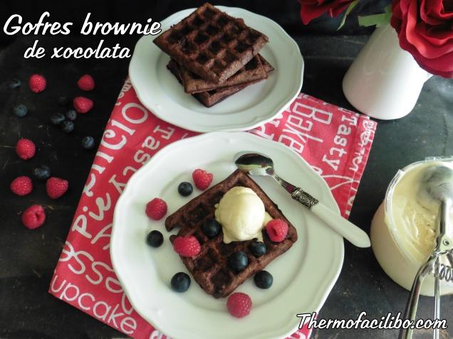 Gofres brownie de xocolata.2