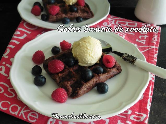 gofres brownie de xocolata