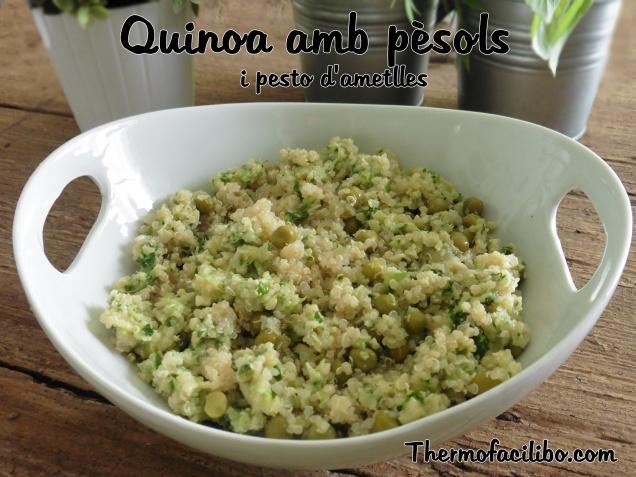 Quinoa amb pèsols i pesto d'ametlles.1