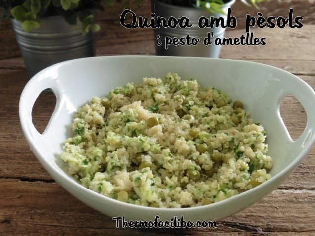Quinoa amb pèsols i pesto d'ametlles