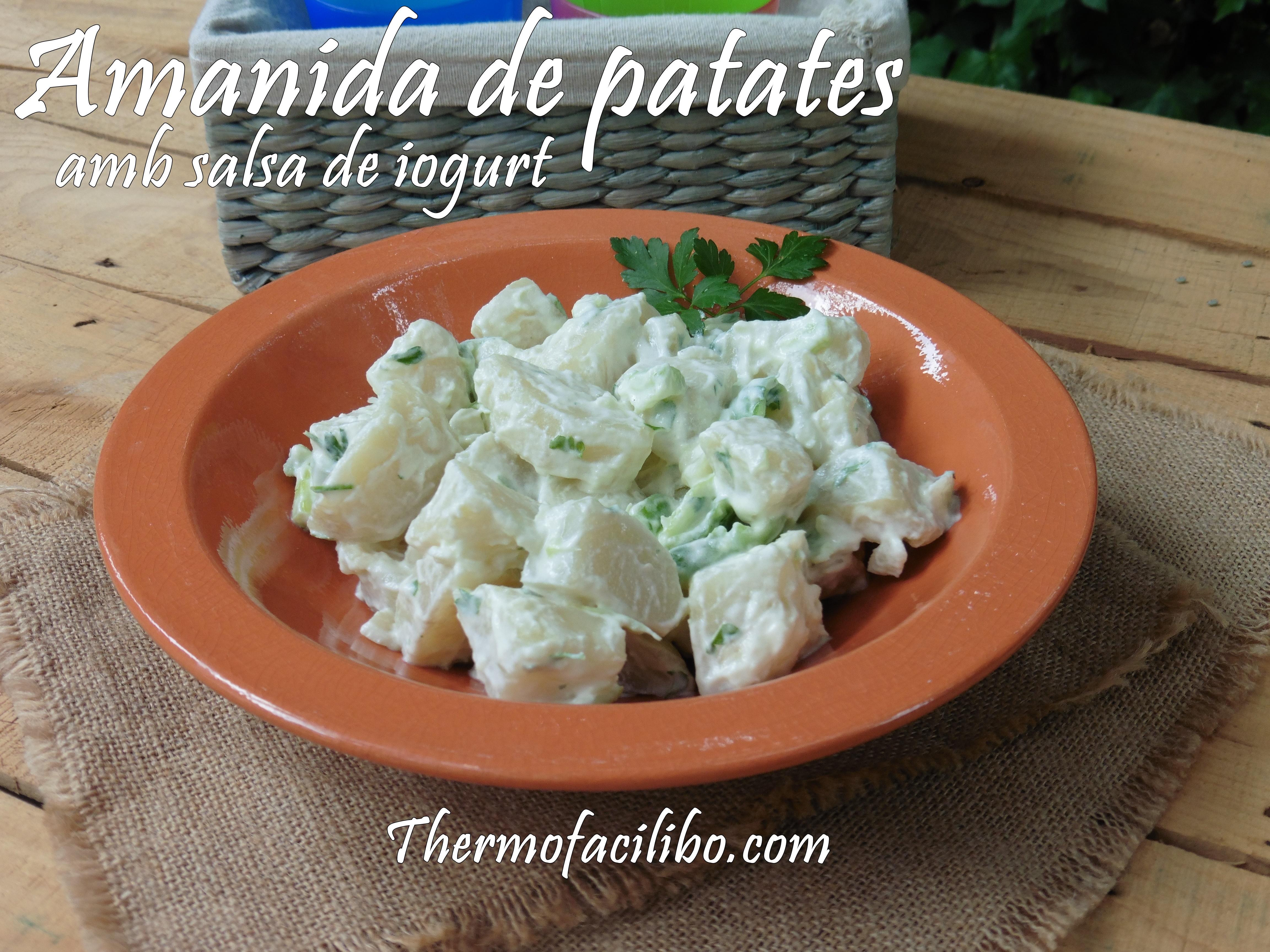 Amanida de patates amb salsa de iogurt