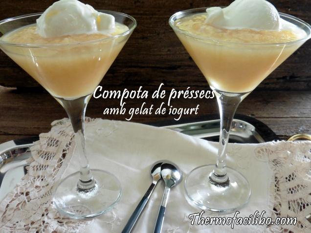 Compota de préssecs amb gelat de iogurt