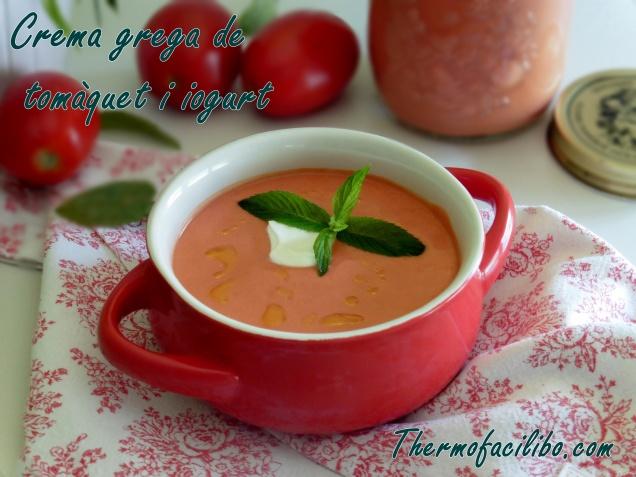 Crema grega de tomàquet i iogurt
