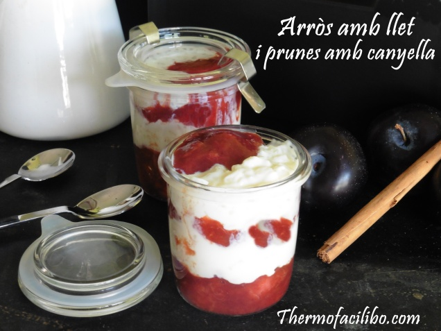 Arròs amb llet i prunes amb canyella