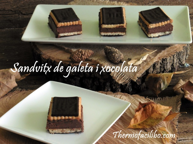 Sandvitx de galeta i xocolata