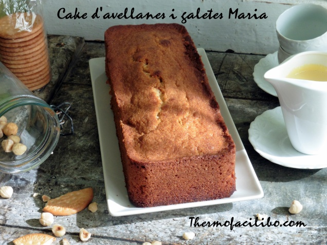 Cake d'avellanes i galetes Maria