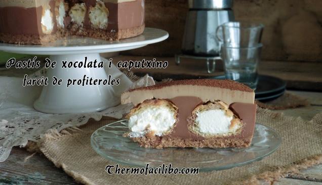 Pastís de xocolata i caputxino