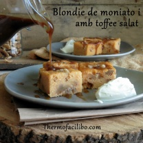 Blondie de moniato i nous am toffee salat