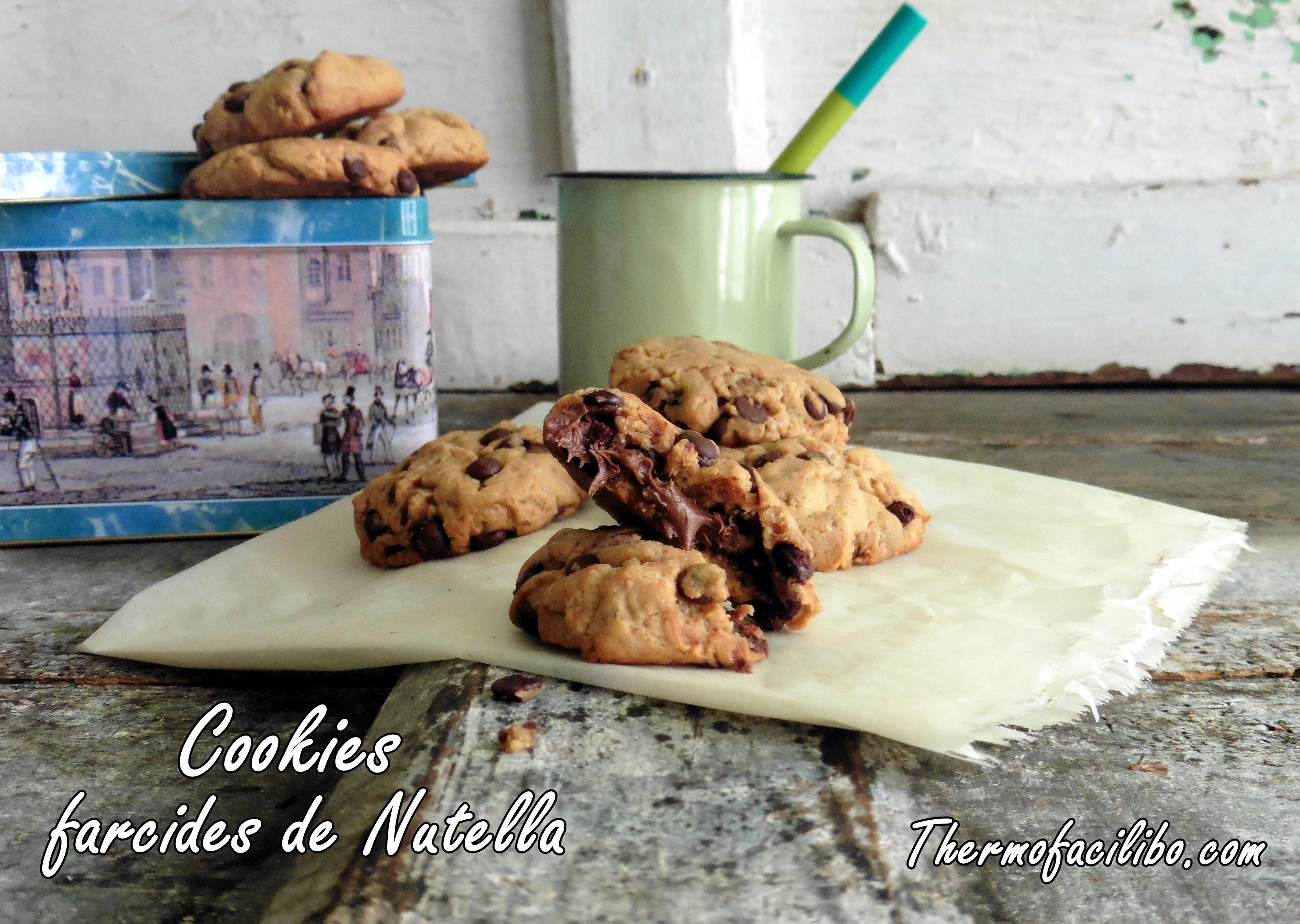 Cookies farcides de nutella .