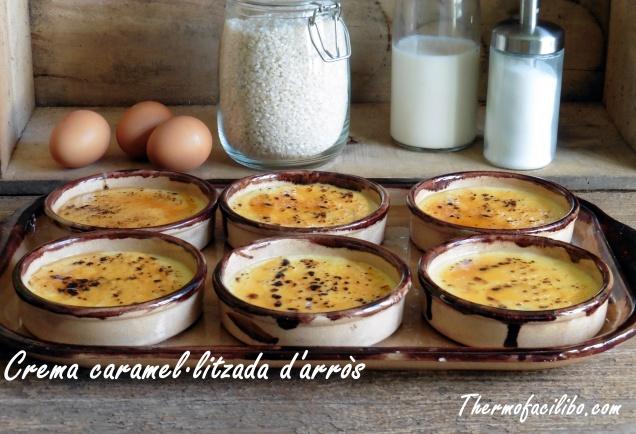 Crema caramel.litzada d'arròs