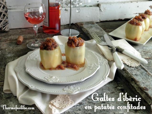 Galtes d'ibèric en patates confitades..