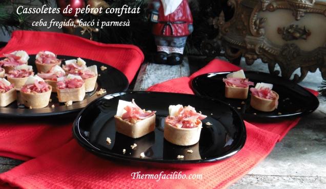 Cassoletes de pebrot confitat .1