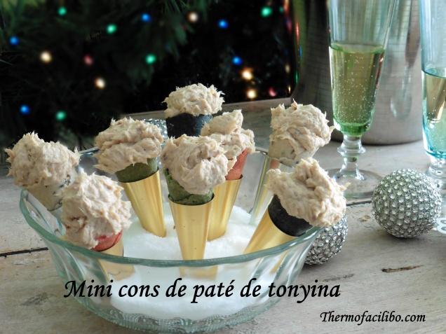 Mini cons de paté de tonyina