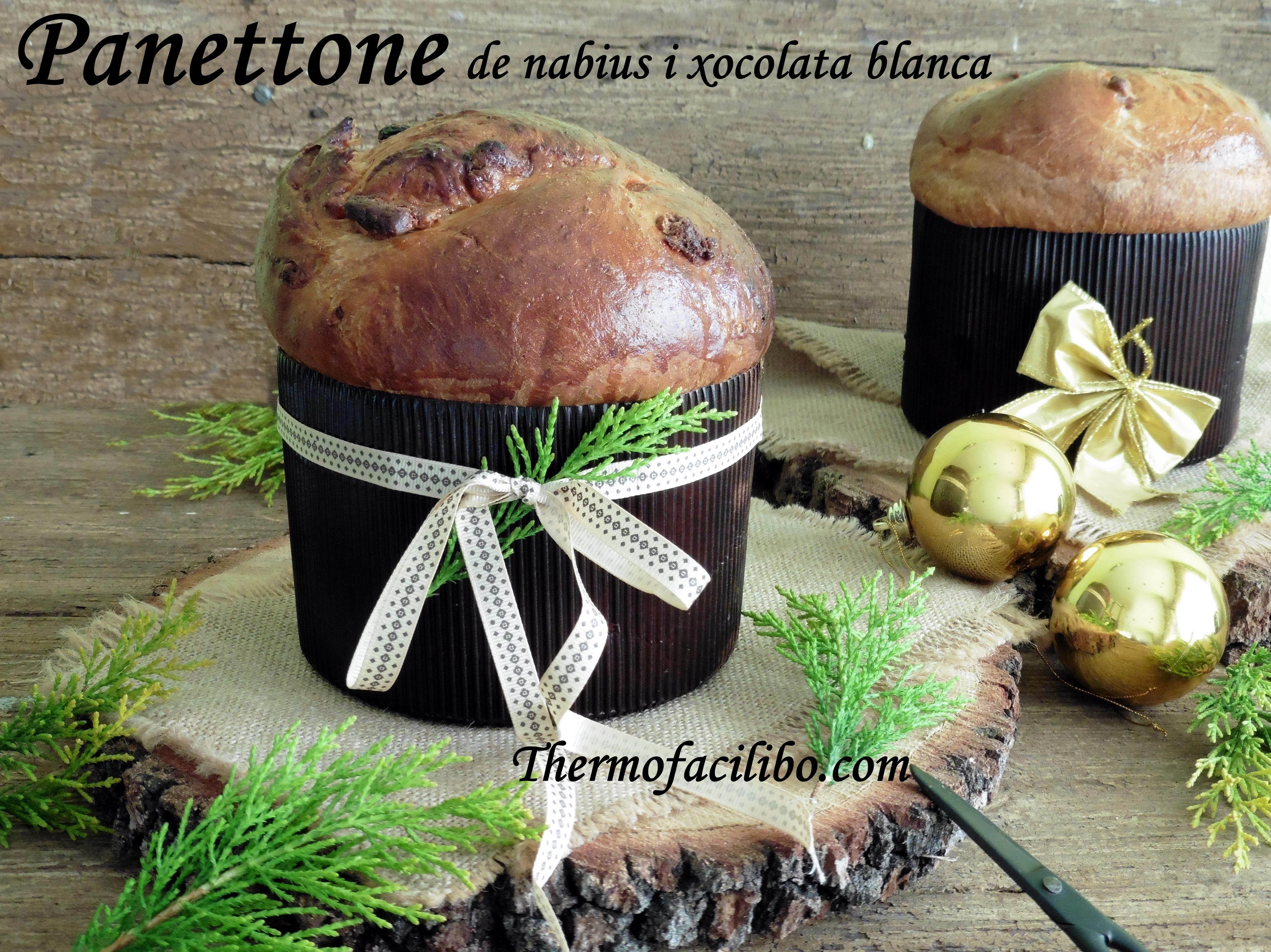 Panettone de nabius i xocolata blanca