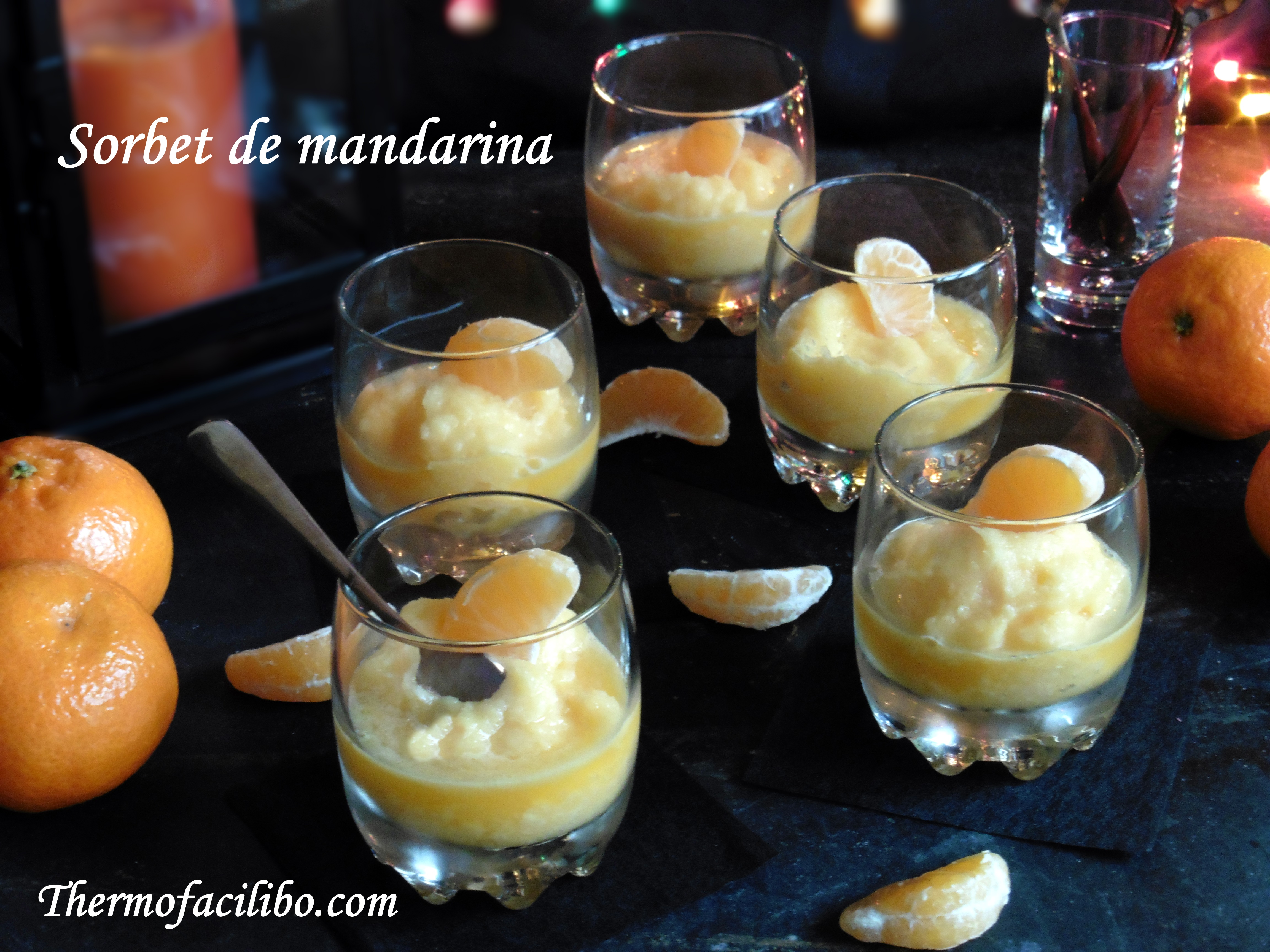 Sorbet de mandarina..