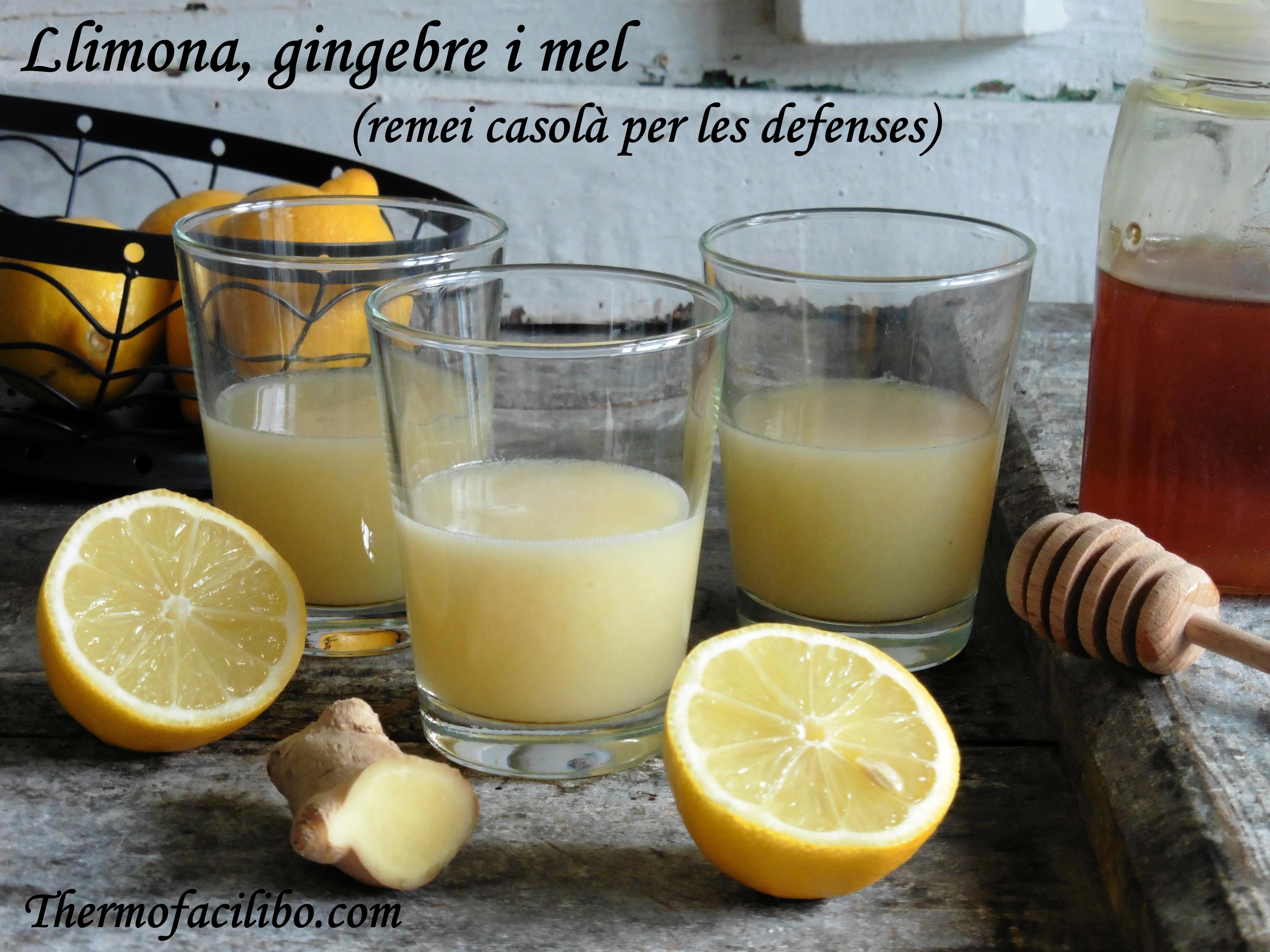 Llimona, gingebre i mel