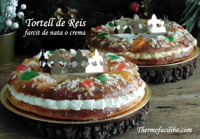 Tortell de Reis farcit de nata o crema (2)