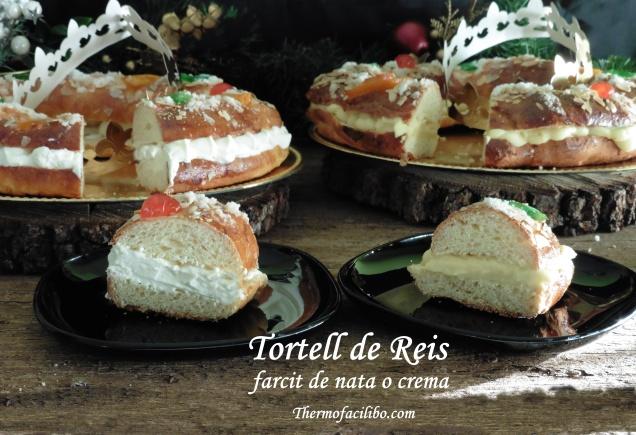 Tortell de Reis farcit de nata o crema.5