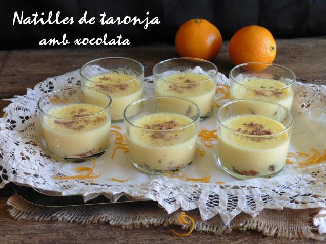 Natilles de taronja amb xocolata.+