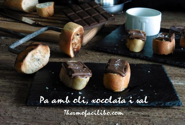 Pa amb oli xocolata i sal