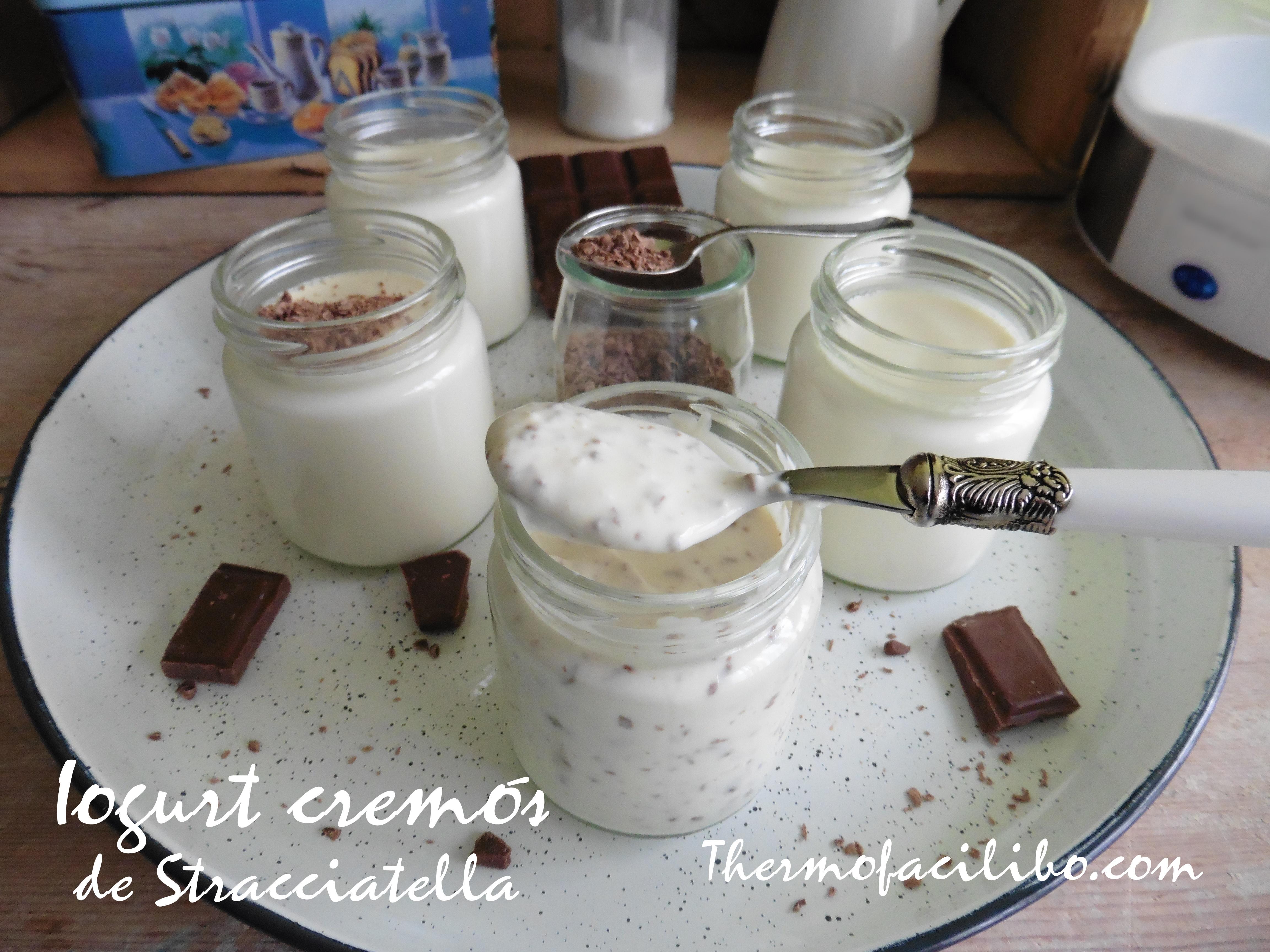 Iogurt cremós de Stracciatella.-