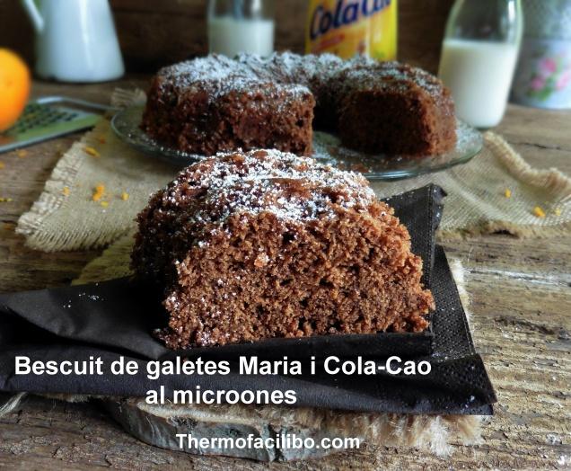 Bescuit de galetes Maria i Cola-cao al microones