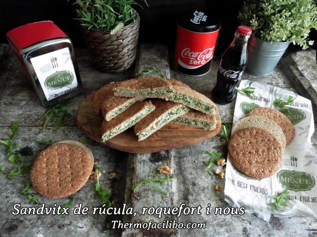 Sandvitx de rúcula, roquefort i nous.2