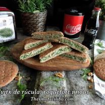 Sandvitx de rúcula, roquefort i nous