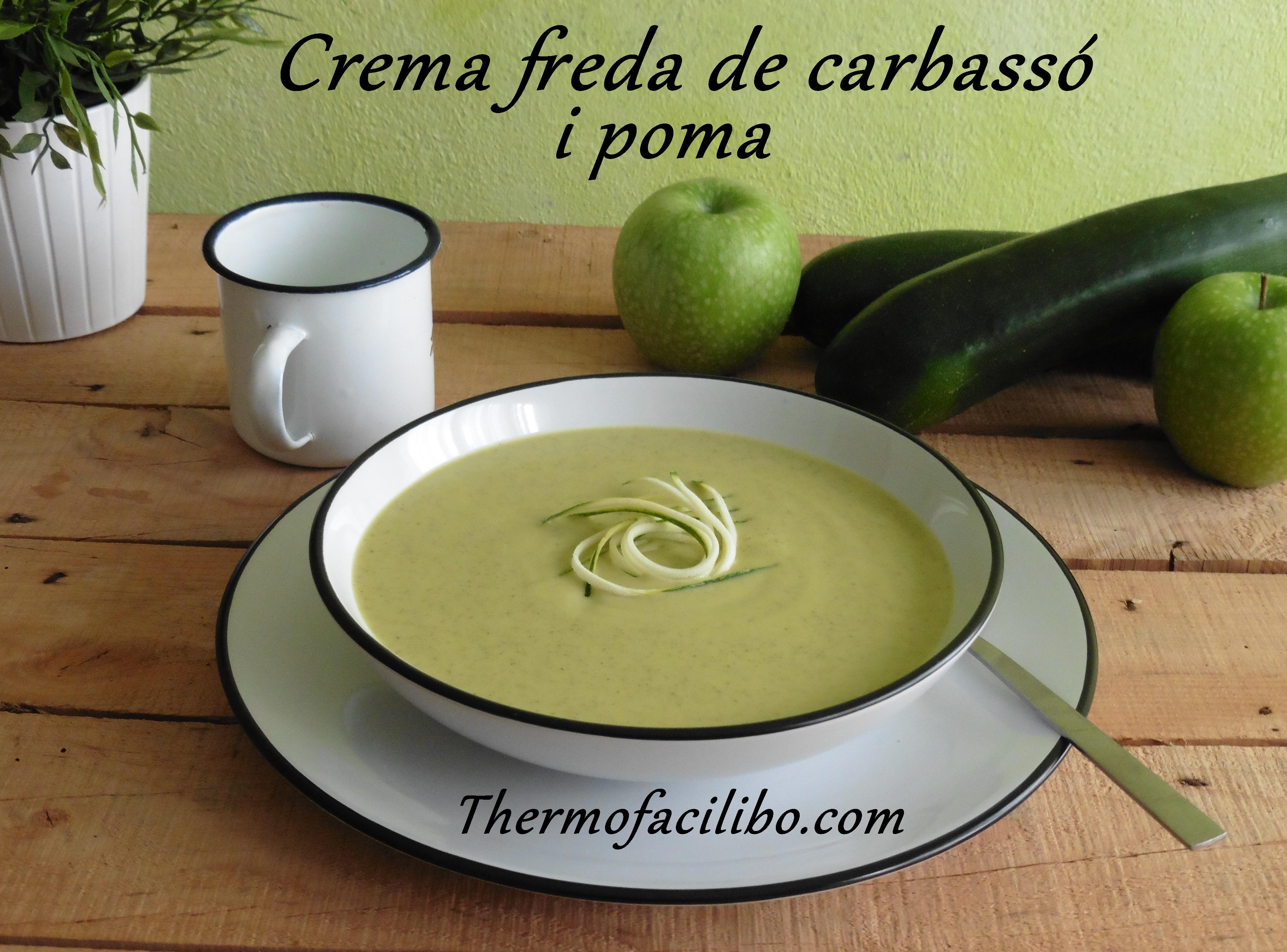 Crema freda de carbassó i poma.2