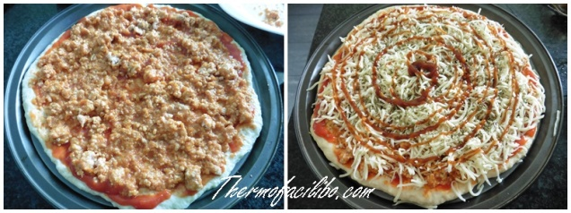 pizza bolonyesa prep